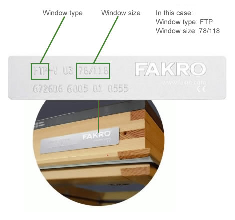 FAKRO blinds measurment